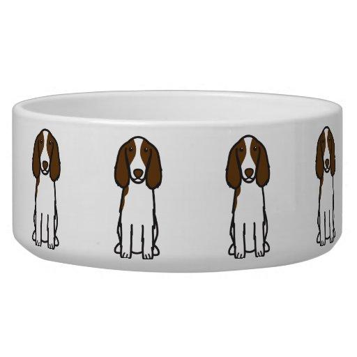 Welsh Springer Spaniel Dog Cartoon Dog Bowl