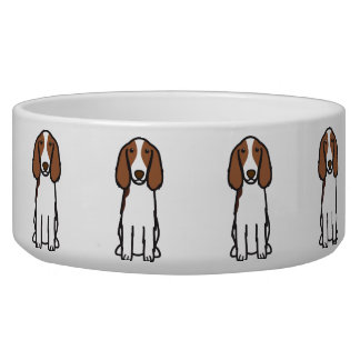 Welsh Springer Spaniel Dog Cartoon Pet Bowl