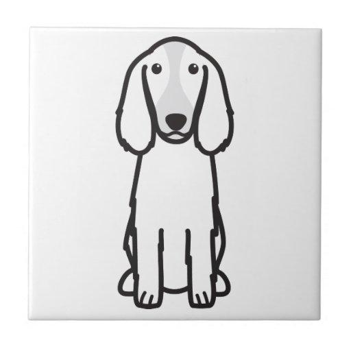 Welsh Springer Spaniel Dog Cartoon Tiles