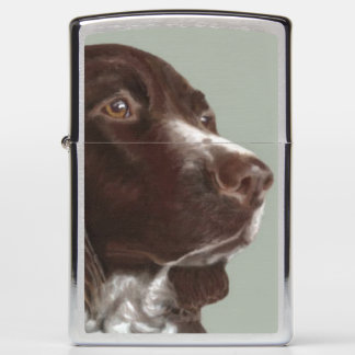 Welsh Springer Spaniel dog Zippo lighter