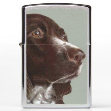 Beach Themed Welsh Springer Spaniel dog Zippo lighter
