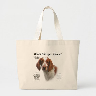 Welsh Springer Spaniel History Design Bag from Zazzle.