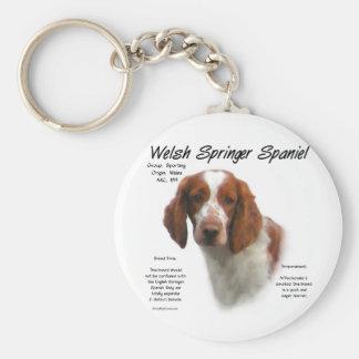 Welsh Springer Spaniel History Design Keychain
