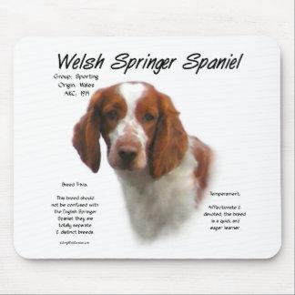 Welsh Springer Spaniel History Design Mouse Pad