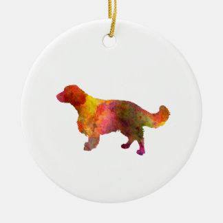 Welsh Springer Spaniel in watercolor Ceramic Ornament