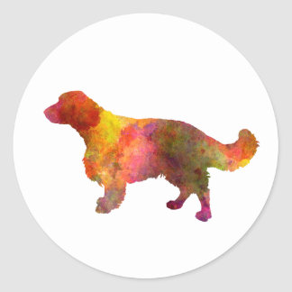 Welsh Springer Spaniel in watercolor Classic Round Sticker