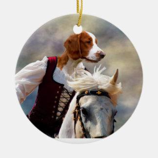 Welsh Springer Spaniel Lady Horserider Ornament