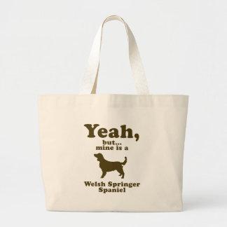 Welsh Springer Spaniel Large Tote Bag