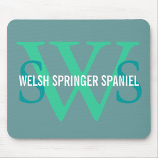 Welsh Springer Spaniel Monogram Mouse Pad