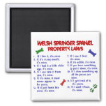 WELSH SPRINGER SPANIEL Property Laws 2 2 Inch Square Magnet