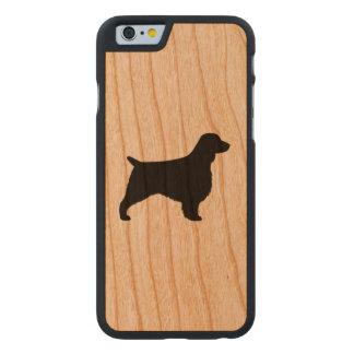 Welsh Springer Spaniel Silhouette Carved Cherry iPhone 6 Slim Case