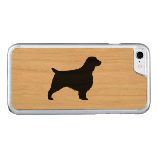 Welsh Springer Spaniel Silhouette Carved iPhone 7 Case