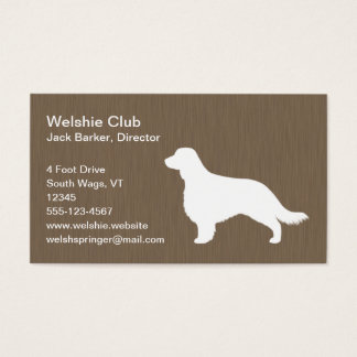 Welsh Springer Spaniel Silhouette (Long Tail) Business Card