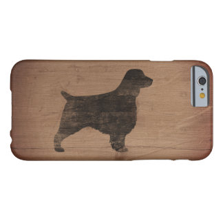 Welsh Springer Spaniel Silhouette Rustic Barely There iPhone 6 Case