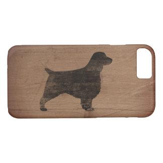 Welsh Springer Spaniel Silhouette Rustic iPhone 7 Case