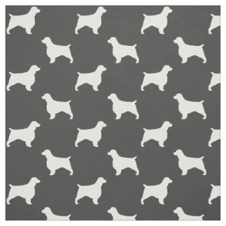 Welsh Springer Spaniel Silhouettes Pattern Fabric