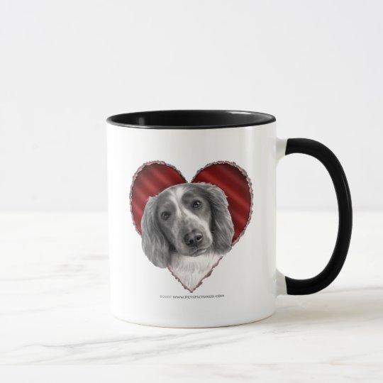 Welsh Springer Spaniel with Heart Mug