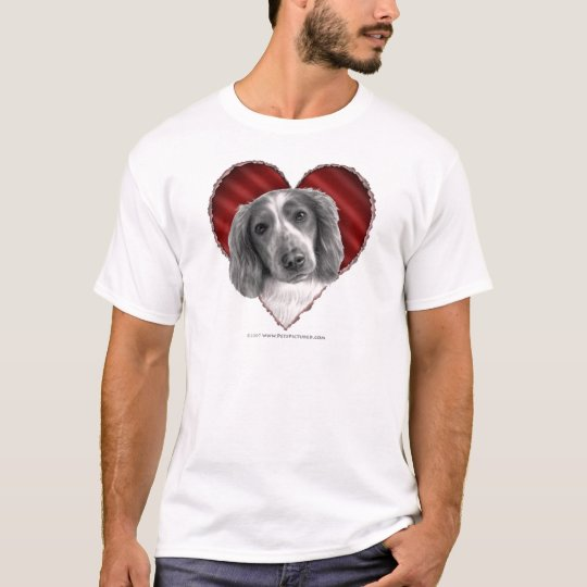 Welsh Springer Spaniel with Heart T-Shirt