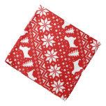 Welsh Springer Spaniels Christmas Pattern Red Bandana
