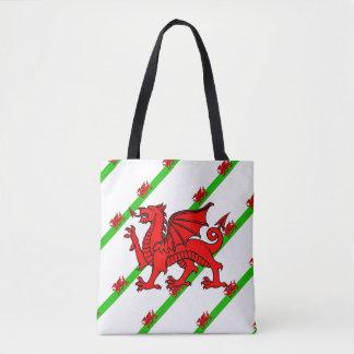 Welsh stripes flag tote bag