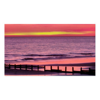 WELSH SUNSET PACK OF STANDARD BUSINESS CARDS