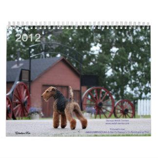 Welsh Terrier 2012 Calendar by Darwyn