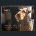 "Welsh Terrier 2015 Calendar by Darwyn<br><div class=""desc"">2015 calendar with custom photos of Darwyn Welsh Terrier&#39;s dogs &amp; puppies! See more at www.welsh-terrier.com</div>"