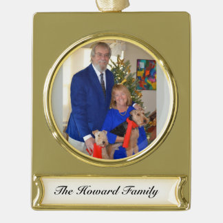 Welsh Terrier 2015 Special Edition - Howard Family Gold Plated Banner Ornament
