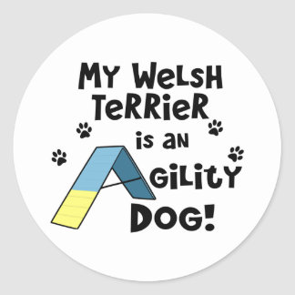 Welsh Terrier Agility Dog Classic Round Sticker