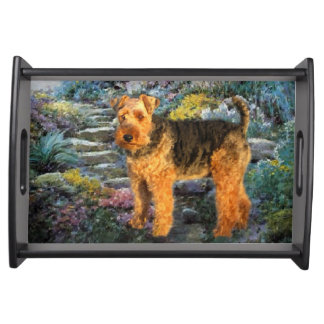 Welsh Terrier Art Food Tray