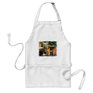 Welsh Terrier Art Gifts Apron