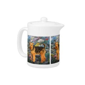 Welsh Terrier Art Teapot