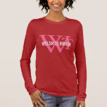 Welsh Terrier Breed Monogram Long Sleeve T-Shirt