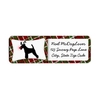 Welsh Terrier Christmas Label