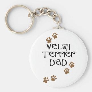 Welsh Terrier Dad for Welsh Terrier Dog Dads Basic Round Button Keychain