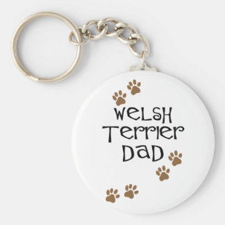 Welsh Terrier Dad for Welsh Terrier Dog Dads Keychain