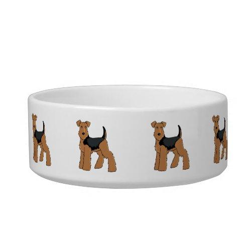 Welsh terrier dog bowl
