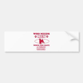 Welsh Terrier dog breed designs Bumper Sticker