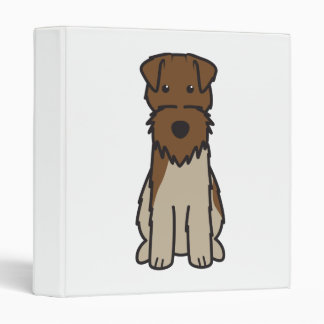 Welsh Terrier Dog Cartoon 3 Ring Binder
