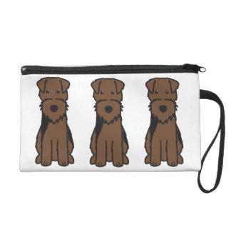 Welsh Terrier Dog Cartoon Wristlets
