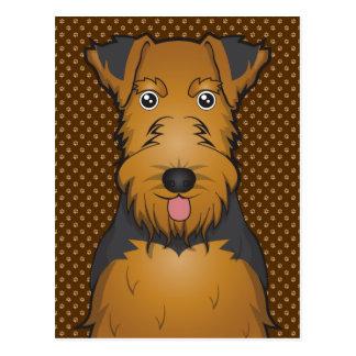 Welsh Terrier Dog Cartoon Paws Postcards