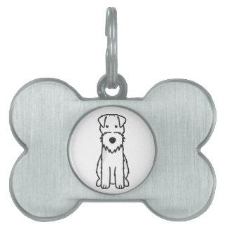 Welsh Terrier Dog Cartoon Pet Tag