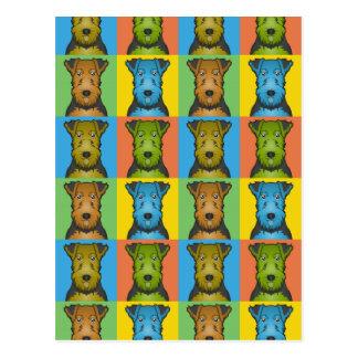 Welsh Terrier Dog Cartoon Pop-Art Postcard