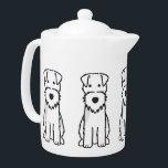 """Welsh Terrier Dog Cartoon Teapot<br><div class=""""desc"""">Welsh Terrier. Design by DogBreedCartoon</div>"""