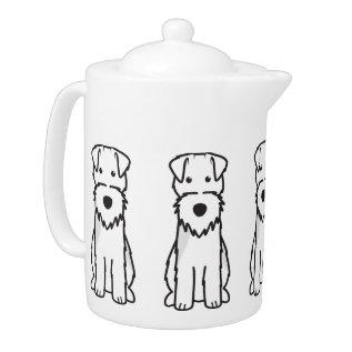 Welsh Terrier Dog Cartoon Teapot at Zazzle