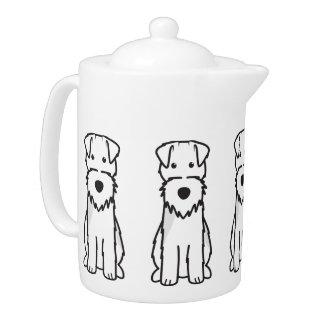 Welsh Terrier Dog Cartoon Teapot