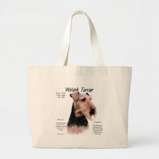 Welsh Terrier History Design Jumbo Tote Bag