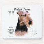Welsh Terrier History Design Mousepad