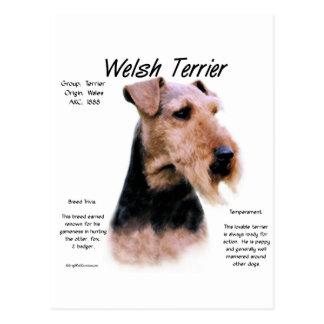 Welsh Terrier History Design Postcards