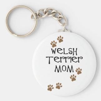 Welsh Terrier Mom for Welsh Terrier Dog Moms Basic Round Button Keychain